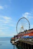 Seattle Great Wheel. In Washington Stock Image