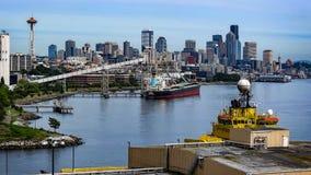 Seattle hamn fotografering för bildbyråer