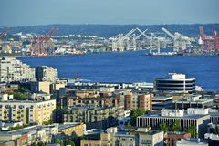 Seattle Harbor Royalty Free Stock Photos