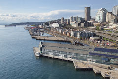 Seattle harbor from high up Stock Image