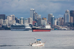 Seattle Harbor Ships Stock Photography