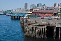 Seattle Harbour and Downtown Royalty Free Stock Photo