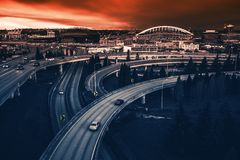 Seattle Highways Intersection Royalty Free Stock Photo
