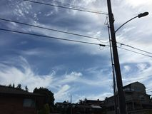Seattle himmel Royaltyfria Foton