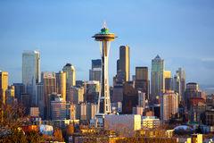 Seattle horisont Royaltyfria Bilder