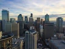 Seattle horisont Arkivbild