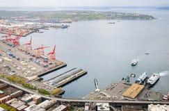 Seattle horisont Royaltyfri Foto