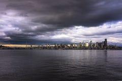 Seattle horisont Fotografering för Bildbyråer