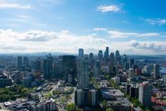 Seattle horisont Arkivfoto