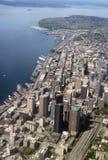 Seattle horisont, antenn Arkivbild