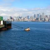 Seattle horisont och skyddsremsa Arkivbild