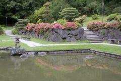 Seattle Japanese garden. Beautiful landscaping in Seattle Japanese garden Royalty Free Stock Images