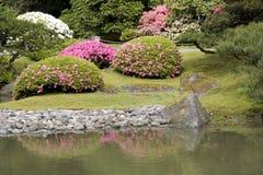 Seattle Japanese garden. Picturesque Japanese garden in spring Stock Photos