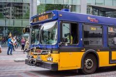 Seattle King County Metro Bus. King County Metro Bus downtown Seattle stock photo