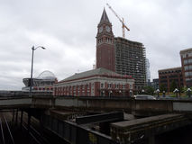 Seattle King Street Station, Century Link Field and construction Stock Images