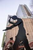 Seattle-Kunstmuseumsstatue Lizenzfreies Stockbild