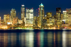 Seattle la nuit Images stock