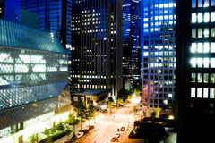 Seattle la nuit Photo stock