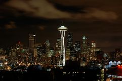 Seattle la nuit photos stock