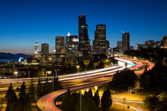 Seattle la nuit Images libres de droits