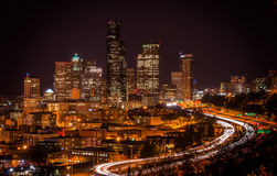 Seattle-Lichter Stockbild