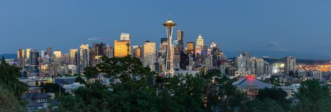 Seattle linia horyzontu fotografia royalty free