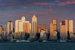 Seattle linia horyzontu Zdjęcia Royalty Free