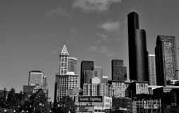 Seattle linia horyzontu Zdjęcie Stock