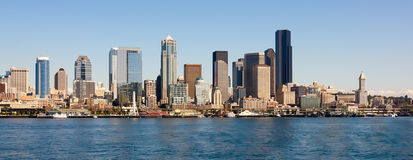 Seattle linia horyzontu, stan washington zdjęcia royalty free