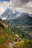 Seattle linia horyzontu Po Podeszczowego szkwału obrazy royalty free
