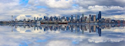 Seattle linii horyzontu panorama Zdjęcia Royalty Free