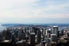 Seattle, los E.E.U.U., el 31 de agosto de 2018: En el centro de la ciudad Seattle vista fotografía de archivo