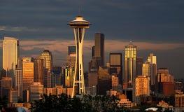 Seattle luminosa Immagini Stock Libere da Diritti