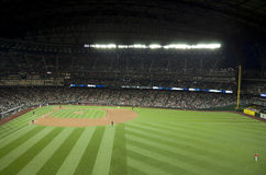 Seattle Mariners contra el juego 2015 de béisbol de los ángeles del la Imágenes de archivo libres de regalías