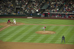 Seattle mariners vs la angels 2015 baseball game Stock Photo
