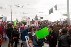 Seattle mars de million de femmes Images libres de droits