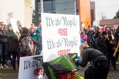 Seattle mars de million de femmes Photo libre de droits