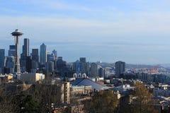 Seattle miasta linia horyzontu Zdjęcia Stock