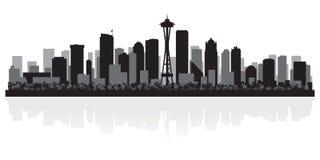 Seattle miasta linii horyzontu Waszyngtońska sylwetka ilustracja wektor