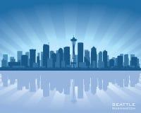 Seattle miasta linii horyzontu Waszyngtońska sylwetka ilustracji