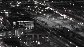 Seattle miasta ruchu drogowego czasu upływu nocy niecki plandeki przesunięcie zbiory wideo