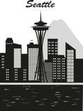 Seattle miasto royalty ilustracja