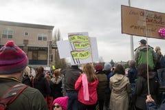 Seattle millón de marzos para mujer Foto de archivo