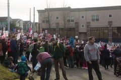 Seattle millón de marzos para mujer Fotos de archivo