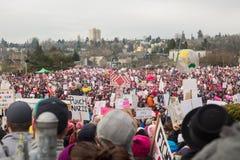 Seattle millón de marzos para mujer Foto de archivo libre de regalías
