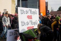Seattle millón de marzos para mujer Fotografía de archivo libre de regalías