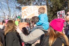 Seattle millón de marzos para mujer Imagen de archivo libre de regalías