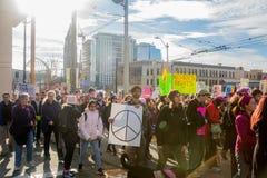 Seattle millón de marzos para mujer Fotografía de archivo