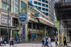 Seattle-Mitte-Einschienenbahn in Seattle Washington Lizenzfreie Stockfotografie