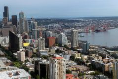 Seattle moderne d'en haut Photographie stock